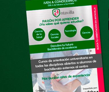 Antavilla School impartirá cursos de orientación universitaria a todos los estudiantes de Bachillerato del municipio